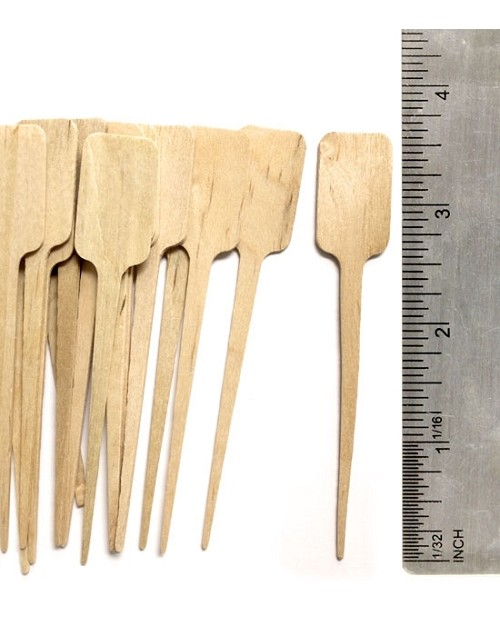Wooden Label Pick Food Service Skewer -4 Inch