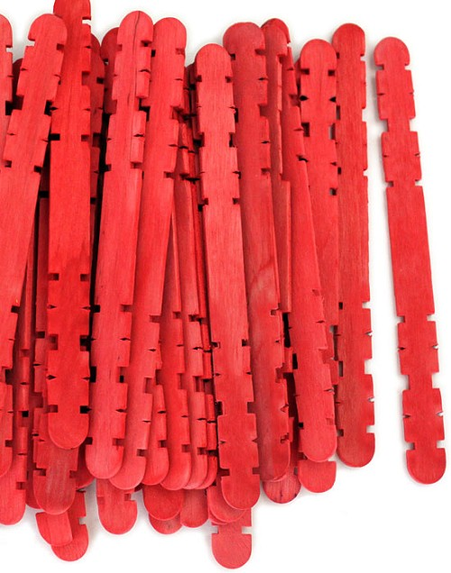 Hobby Craft Sticks -Red