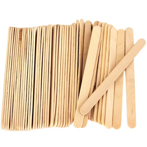 4.5 Inch Standard Craft Popsicle Sticks -Natural