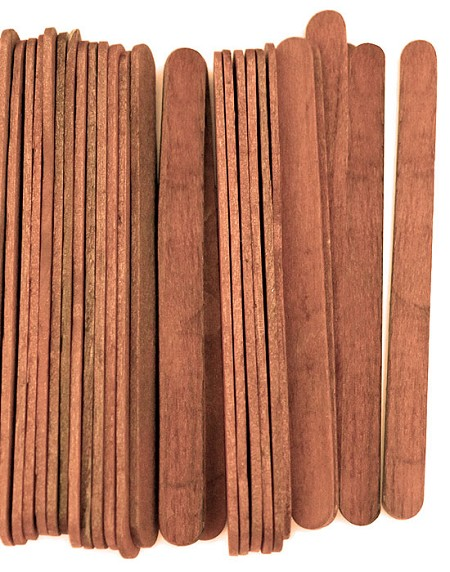 "4 1/2"" Standard Craft Sticks -Cherry Stain"