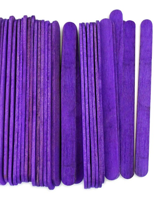 "4 1/2"" Standard Craft Sticks -Purple"