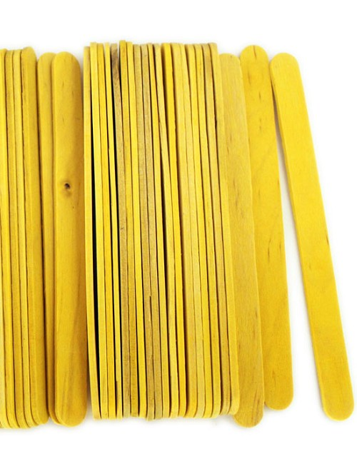 "4 1/2"" Standard Craft Sticks -Yellow"
